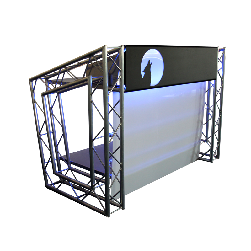 dj counter active blue veranstaltungstechnik eventtechnik. Black Bedroom Furniture Sets. Home Design Ideas